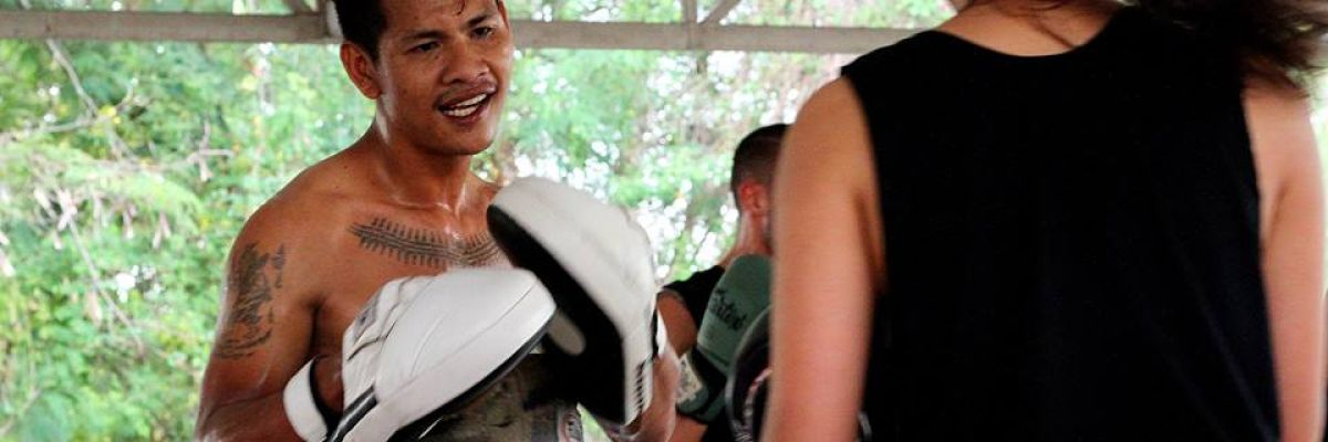 Team Quest Pad man Thai Boxing classes