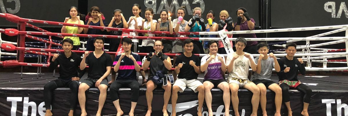 Muay Thai Gym Team at The camp in Chiang Mai