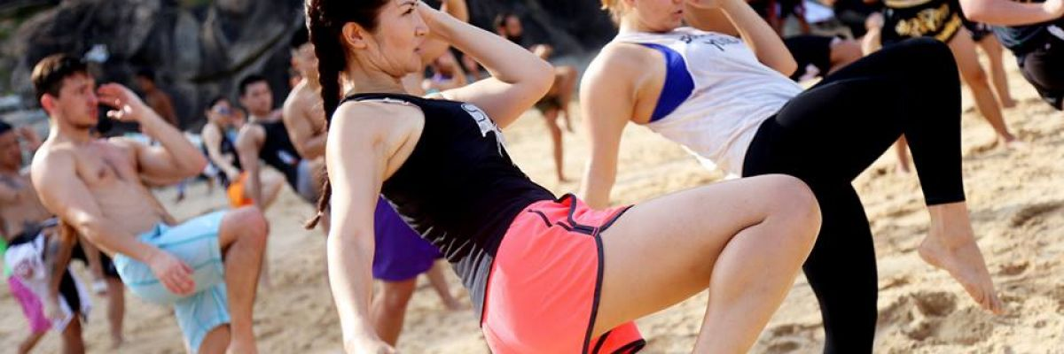 Learn MuayThai in Phuket beach