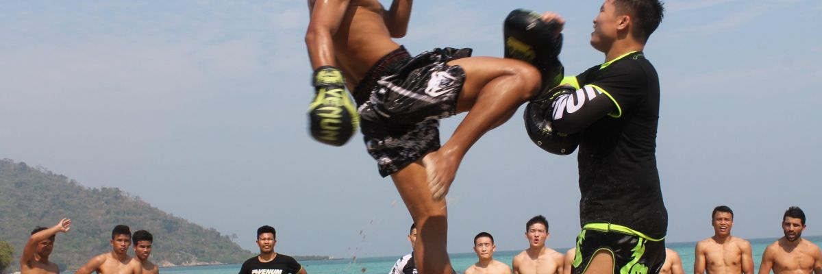 Beach Fitness Muay Thai Boxing Holiday Pattaya Thailand