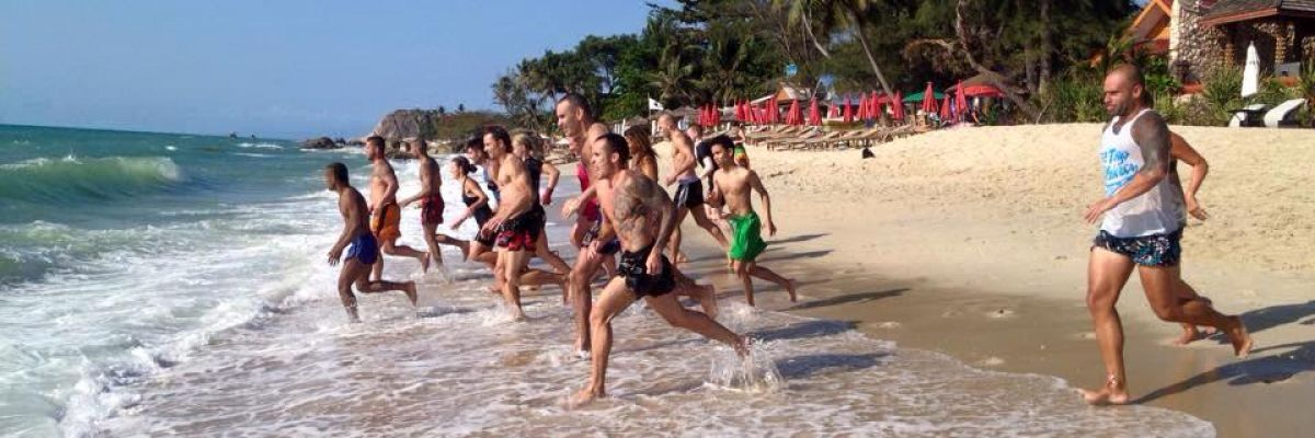 Samui Pavillions beach resort - beach fitness in Thailand